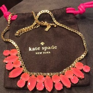 14 k Kate spade jeweled necklace! Like new!